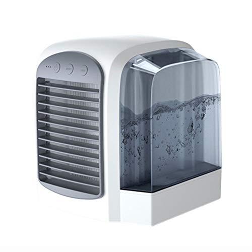 YBZS Condizionatore d'aria portatile, mini condizionatore d'aria portatile/raffreddamento ad acqua umidificatore/ventilatore da tavolo/con luce notturna