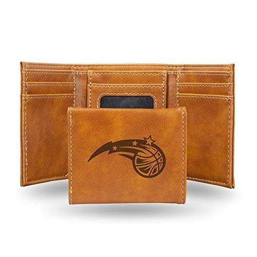 Rico Industries NBA Orlando Magic Laser Engraved Tri-Fold Wallet, Brown