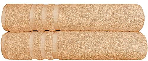 Juego de toallas (2 piezas) con 2 toallas de baño de 70 x 140 cm, 100% algodón turco suave y resistente, 500 g/m².
