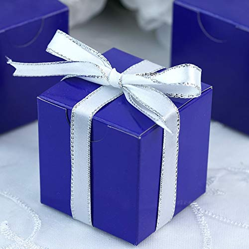 Efavormart 2x2 Violet Favor Candy Box for Wedding Event Party-100pc
