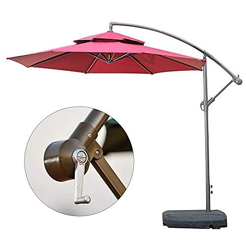 WQF Sombrilla de jardín para el hogar, sombrilla de Playa Plegable para Exteriores, sombrilla con ángulo de Superficie Ajustable, sombrilla, sombrilla y Resistente a la Lluvia, para balcón, pati
