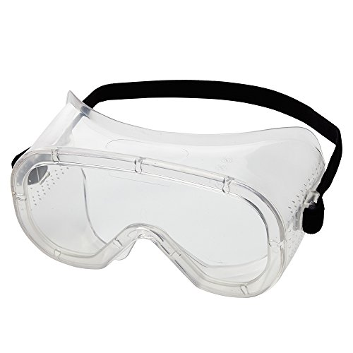 Sellstrom Flexible, Soft, Direct Vent, Protective Safety Goggle, Clear Body, Anti-Fog Coating, Clear Lens, Black Adjustable Strap, S81010