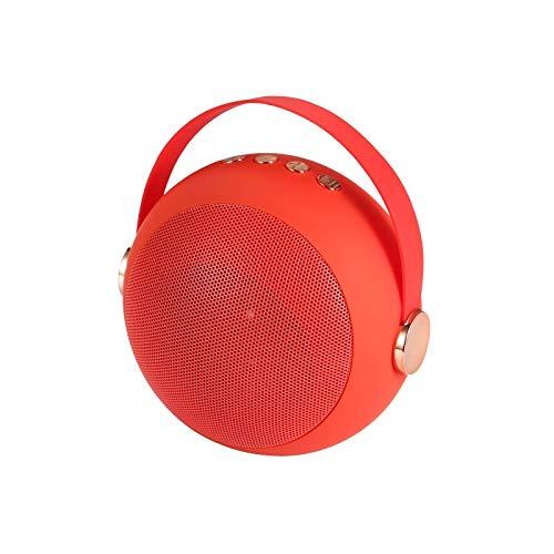 XFSE Scrub mit einem roten Gurt tragbare drahtlose Bluetooth-Mini-Lautsprecher Matte Metallkugel Spieluhr TF-Karte USB-Festplatte