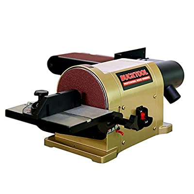 BUCKTOOL Belt Disc Sander 4 in. x 36 in. Belt and 6 in. Disc Sander Benchtop with 3/4HP Direct-drive Motor and Portable Al Base BD4603 by BUCKTOOL