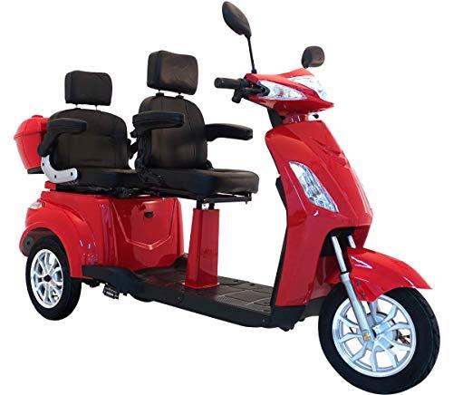 "Elektromobil ""VITA CARE 2000"", 2-Sitzer, 25 km/h, 60 Kilometer Reichweite, Seniorenmobil, E-Roller, E-Scooter mit Straßenzulassung, Elektroroller, Senioren Elektromobil, Produktvideo, Schwarz"