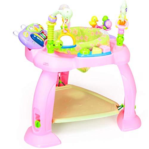 Glzcyoo Chaises Hautes Bright Starts Bounce Bounce Baby, Fauteuil Sauteur Multifonctionnel, Fauteuil sautant, Siège pivotant, avec Orgue électronique, Tremplin élastique, 4 chansons A+ (Color : B)