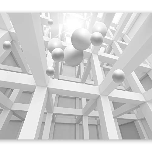 murando Fototapete 3d Effekt 450x315 cm Vlies Tapeten Wandtapete XXL Moderne Wanddeko Design Wand Dekoration Wohnzimmer Schlafzimmer Büro Flur Abstrakt Optik Kugeln optische Täuschung a-C-0029-a-a