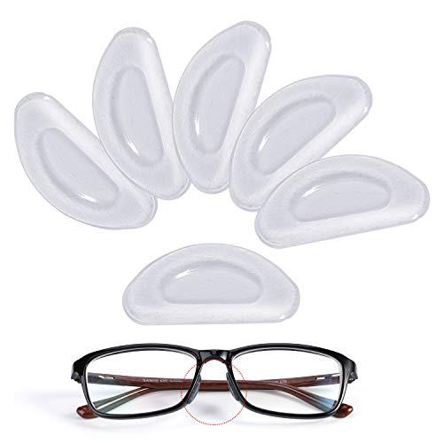 MWoot Anti-slip neuspads, 12 paar 2 mm antislip silicone neuspads kleefmiddel voor brillen zonnebril leesbril pads, transparant