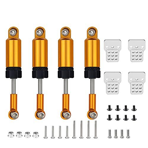 YZSM Juego de Piezas de actualización Amortiguadores para Coche RC 1/16 camión para WPL C14 C24 ( Color : Oro )