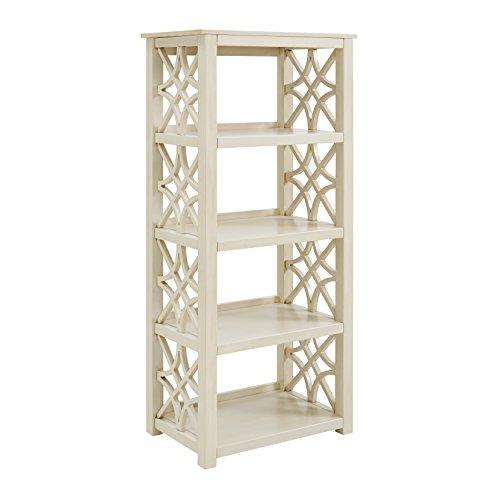 Linon Bookcase, Antique White