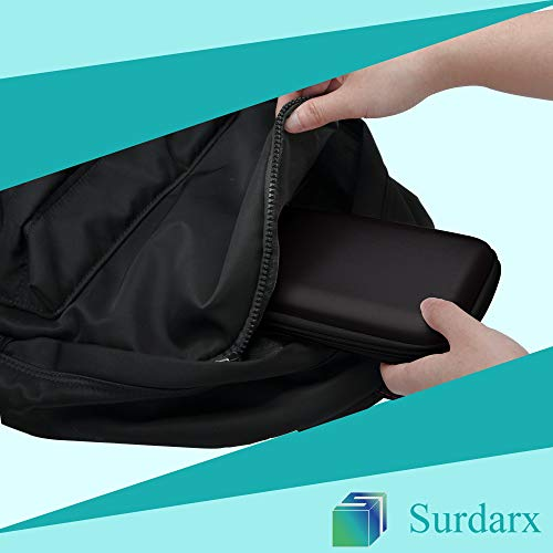 Surdarx Graphing Calculator Carrying Case for Graphing Calculator and More, Inside Mesh Pocket for USB Cables and Pencil, Pen, Stationary (Black) Photo #3