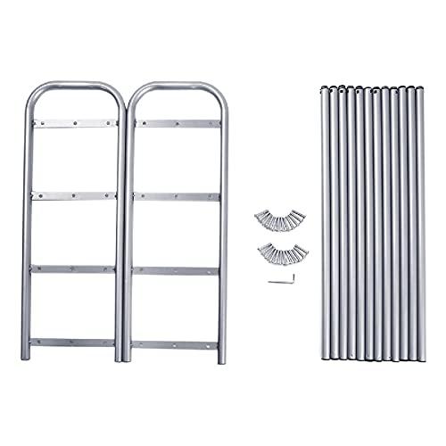 Lzcaure Zapatero de 4 capas, extensible, color gris plateado, organizador de zapatos, resistente, para almacenamiento de pasillo, sala de estar, baño