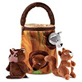 My Forest Animals Toy Set | Includes 4 Talking Soft and Fluffy Plush Forest Animals | A Plush Tree Shaped Carrier | Great Gift for Baby and Toddler Boys or Girls