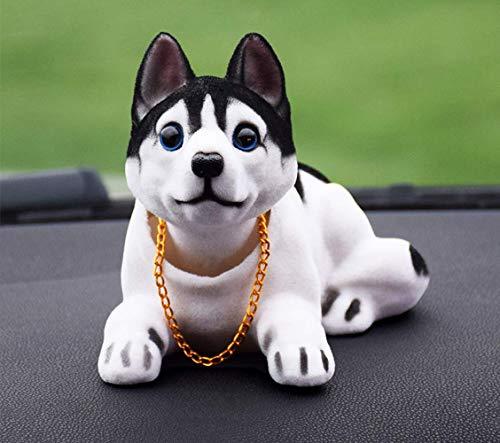 BGFS Juguete divertido para perro que sacude la cabeza, juguete lindo que sacude su cabeza cachorro muñeca adornos del coche decoración interior del coche coche coche tablero de instrumentos (C)