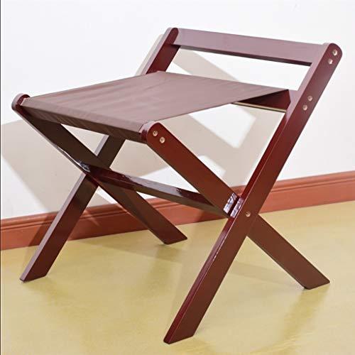 Best Bargain XLJ-YJ Luggage Rack Folding Luggage Rack, Solid Wood Luggage Rack Folding Suitcase Rack...