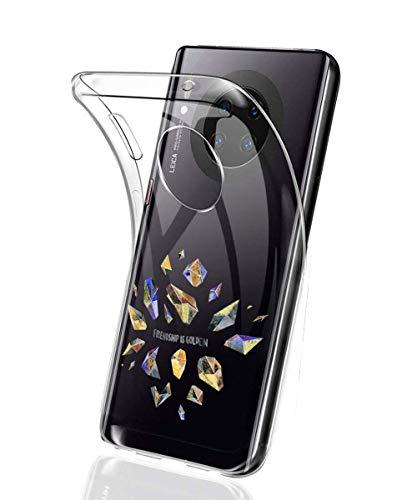 Oihxse Mode Motif de Diamant Case Compatible pour Xiaomi Redmi Note 6 Pro/Note 6 Coque Silicone Ultra Mince Transparent Souple Bumper Crystal Clair Anti-Rayures Antichoc Protection Cover,Diamant 4