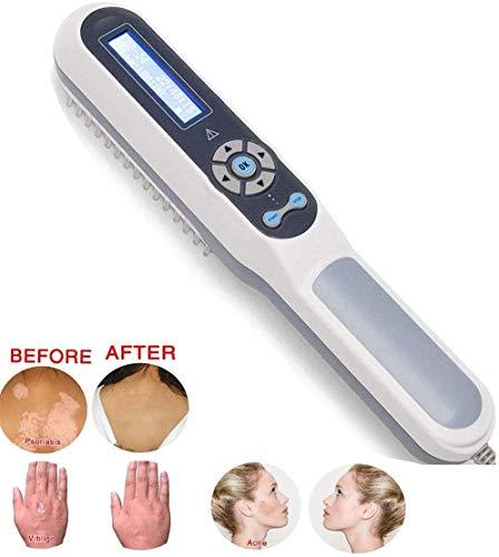 YCGJ Terapia de luz UVB de Mano Fototerapia en el hogar con LCD Temporizador Digital Control y Gafas Dispositivo de Fisioterapia de Terapia de luz para Enfermedades de la Piel Vitiligo Psoriasis