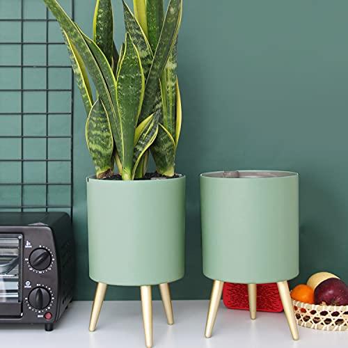 Lagita vasi rialzati da interno Vaso da fiori con supporto vasi per piante moderni con irrigazione automatica - Verde