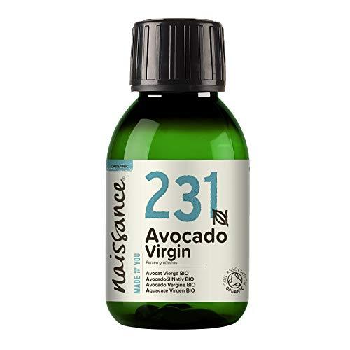 Naissance Aceite Vegetal de Aguacate BIO n. º 231 – 100ml - 100% puro, virgen, prensado en frío, certificado ecológico, vegano y no OGM