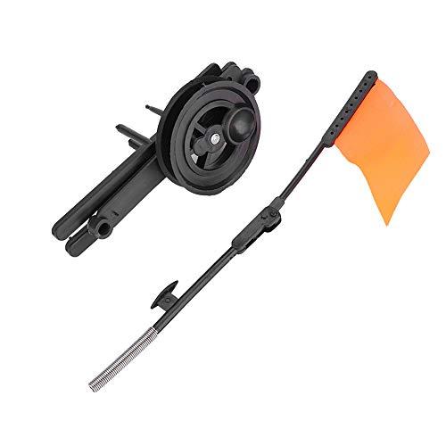 koulate Pesca en el Hielo Tip Up, Portátil Compacto Pesca en el Hielo Rigger Tapa del Agujero Caña de Pescar en el Hielo Poste de Metal Compacto Bandera Naranja Aparejo de Pesca Accesorio