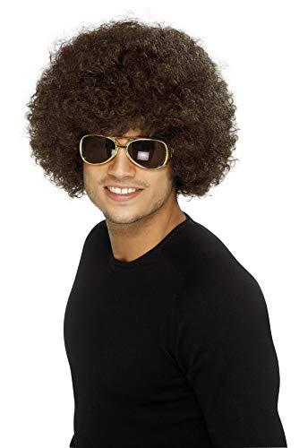 Smiffys, unisex jaren 70 Funky Afro pruik, één maat, bruin, 42016
