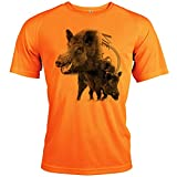 Pets-easy t Shirt Chasse - Correa, diseño con texto personalizado, Hombre, Fluo, extra-large