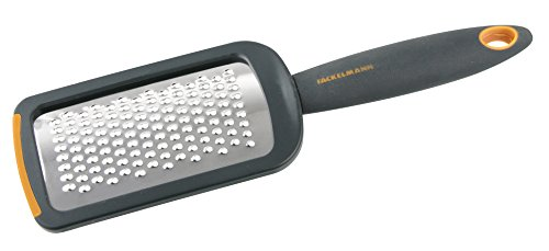 Fackelmann Soft Rallador de Cocina Pequeño, Rallador con Mango, Rallador Manual, Acero Inoxidable,26x7,4cm, 1ud.