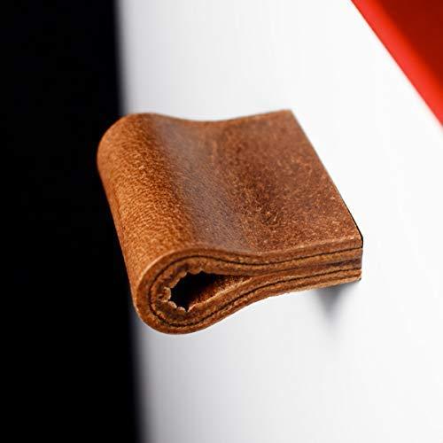 Ledergriff für Möbel handmade in Germany, Möbelgriff Möbelknopf Schrankgriff Lederschlaufe Schubladengriff Küchengriff Möbel Griff Modell MILANO-MINI - Brown Vintage