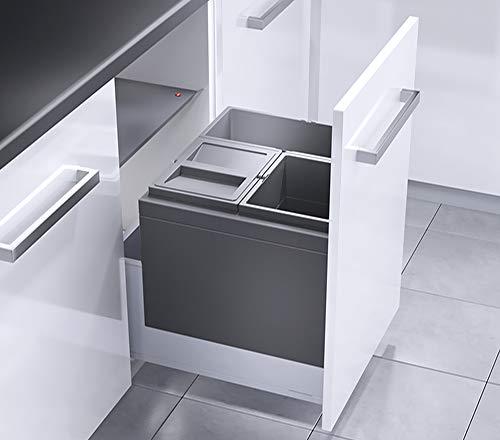 HAILO 3631591 Abfallsorter TRIPLE XL mit 3-fach-Trennung - 44 Liter Volumen / 1x 18 Liter u. 2x 13 Liter / 50 cm Schrankbreite