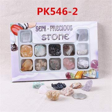 ExcLent Au Natürliche Edelsteine Steine Vielfalt Sammlung Kristalle Kit Mineral Geologische Lehrmaterialien - #3