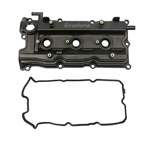 Engine Camshaft Valve Cover with 2 Gaskets for 2002-2009 Nissan Murano Altima Maxima Quest 3.5L,Left/Front PCV Cover fits 2003-2008 Infiniti FX35 G35 M35 3.5l by Ecodone