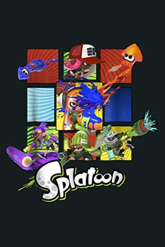 Nintendo Splatoon Inklings In Action Boxes Gráfico: cuaderno, cuaderno de notas hermoso, simple, impresionante, tamaño 6 x 9 pulgadas, 114 páginas de tapa blanda