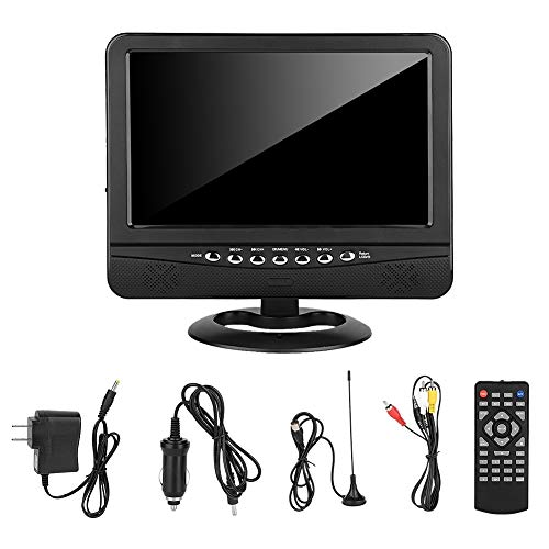 KSTE 9.5 inch Wide Viewing Angle Portable TV Analog Mobile DVD TV Player US 100-240V
