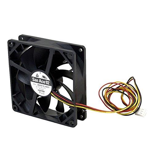 オウルテック 安心の2年間交換保証 PCケース用山洋電気製静音ファン 9cm 25mm厚 1750rpm SF9-S4