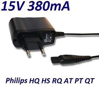 Cargador Corriente 15V Reemplazo Afeitadora Philips Philips QT-Serie PT-Serie HQ-Serie RQ-Serie. Sustituye: HQ8505 CRP136 Recambio Replacement