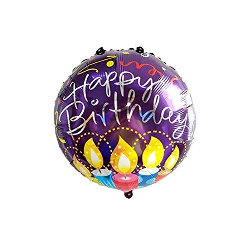 XMCHE Globo de látex Decoración Globos del cráneo del Pirata de Halloween Decoración Globo Inflable Bola Aire bebé Ducha Partido Feliz cumpleaños (Color : 18inch Balloon 1pcs)