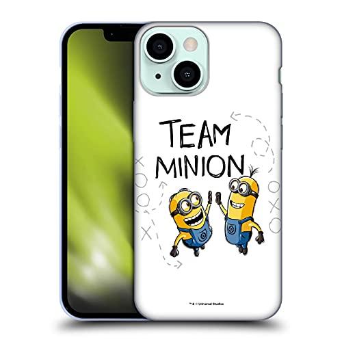Head Case Designs Licenza Ufficiale Despicable Me Team Dammi Il Cinque Minion Raffigurazioni Cover in Morbido Gel Compatibile con Apple iPhone 13 Mini