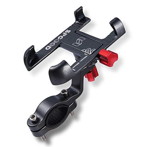 SPGOOD Handyhalterung Fahrrad 360°-Verstellbare Universal Handyhalterungen Fahrräder Handyhalterung Motorrad aus Alle Aluminiumlegierung mit Sicherheitsgummi für,Geeignet für Apple,Android