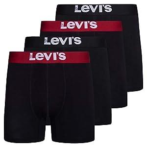 Levi's Mens Stretch Boxer Brief Underwear Breathable Stretch Underwear 4 Pack