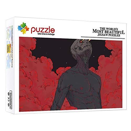 FFGHH Rompecabezas Puzzles 1000 Piezas Puzzles 1000 Piezas Adultos Mini Puzzle Arte De Fantasía Materiales Reciclables para Adultos Niños Amigo 14.96 In X 10.23 In