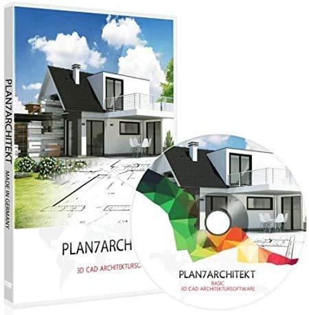 Plan7Architekt Basic 2021 - 2D/3D CAD Hausplaner Software & Architektur Programm für die Grundrisserstellung, Raumplaner Einrichtungsplaner & zur 3D Visualisierung