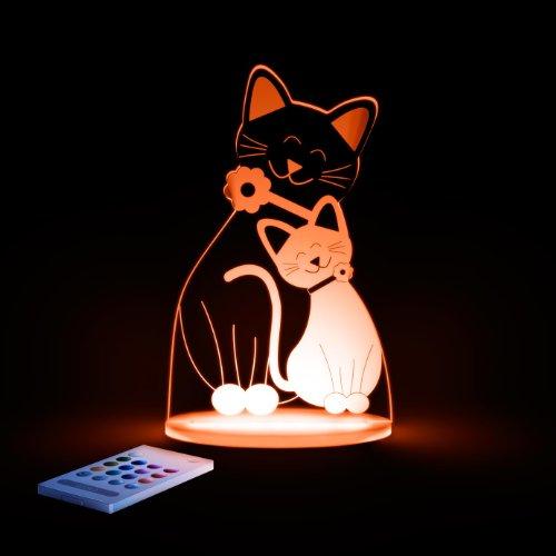 Aloka Sleepylight luz nocturna Multi LED gato/Gatito