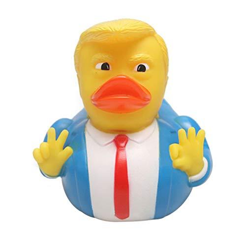 Fangteke Pato de Goma de Donald Trump Dibujos Animados Donald Trump Juguetes de Pato de Baño Juguete de Pato Pequeño Juguete de Baño de Bebé