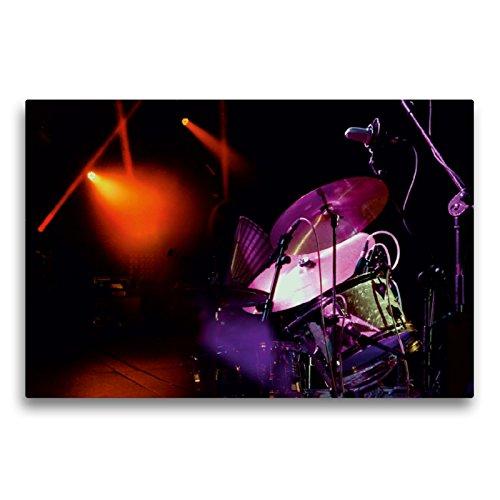 CALVENDO Premium Textil-Leinwand 75 x 50 cm Quer-Format Faszinierendes Schlagzeug, Leinwanddruck von Peter Roder