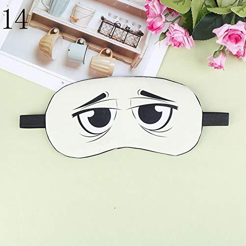 Fashion Cute Cartoon Eye Design Sleep Mask Natural Relax Sleeping Eye Mask Soft Padded Sleep Travel Shade Cover Blindfold 1Pc