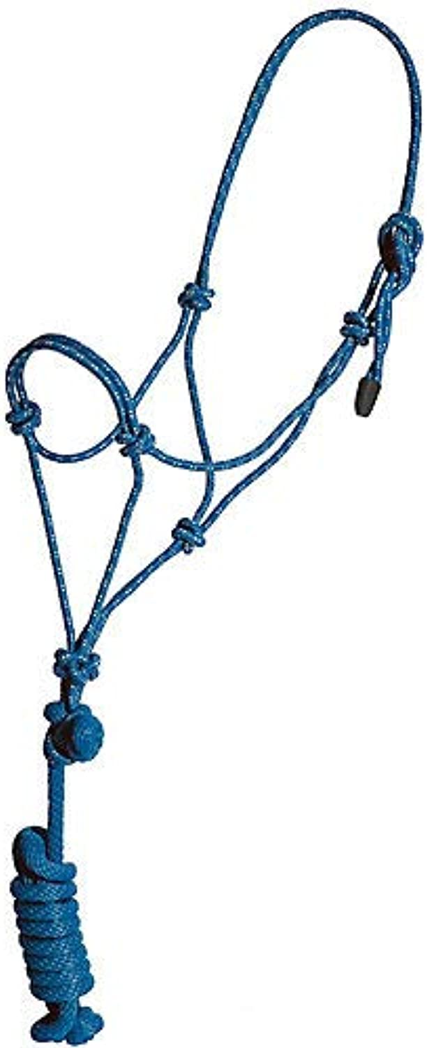 (Hot Pink) - Mustang Rope Halter with Lead