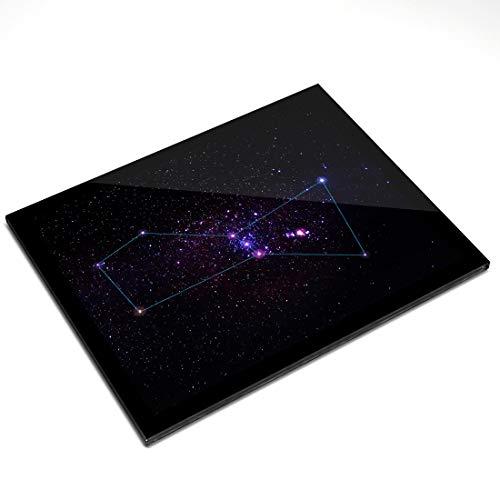 Destination Vinyl ltd Mantel Individual de Cristal (20 x 25 cm), diseño de Estrellas de la constelación de Orion