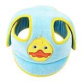 Casco de protección para bebé, Nesloonp gorra protectora para cabeza de bebé, Niño Gorra Antigolpe Sombrero para Proteger Cabeza Aprender Gatear con Ajustable Arnés de Protección