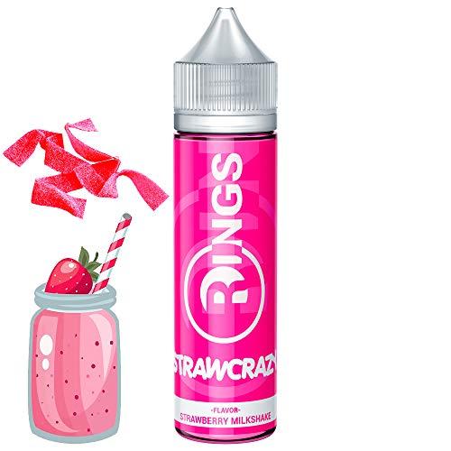 Rings E-Liquid Strawcrazy 50ml 70VG/30PG Liquido vaper