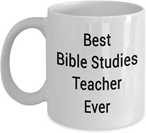 N\A Taza para Profesores de Estudios bíblicos Agradecimiento del Mundo, Taza de café de té para la Escuela Secundaria